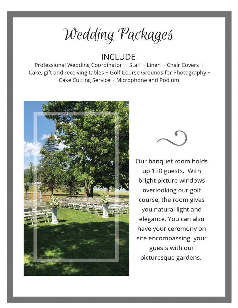 2020 Wedding packages 2