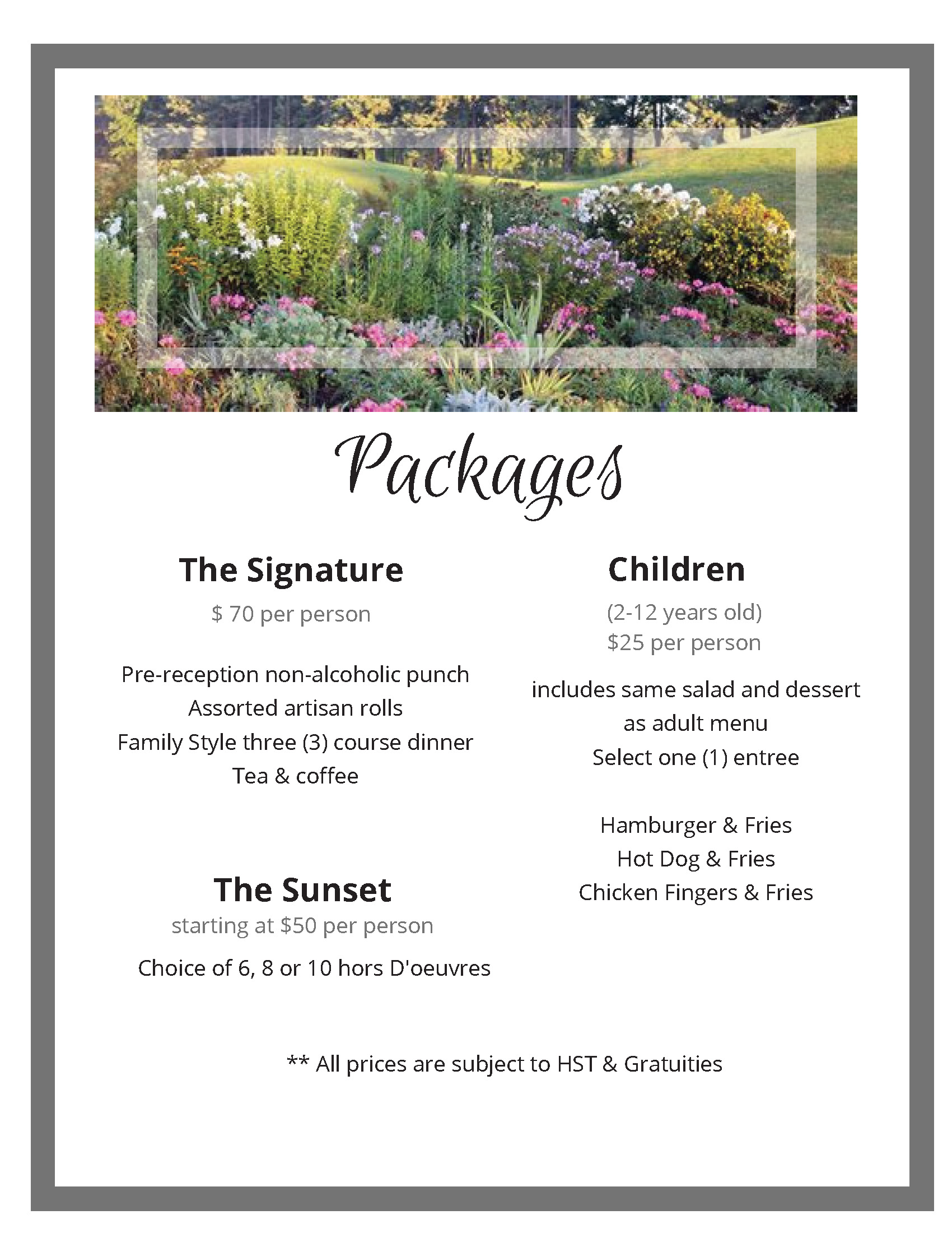 2020 Wedding packages 3